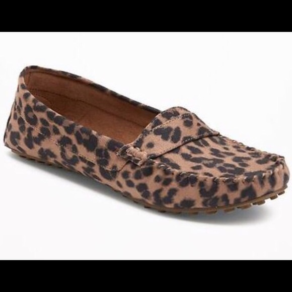 Old Navy Leopard Driving Shoes   Poshmark